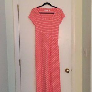 EUC Athleta Striped Pink Maxi Dress
